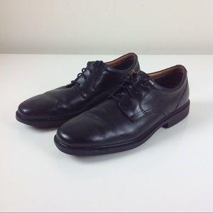Rockport Black Leather Dressport Oxford Shoes 13 W